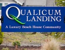 Qualicum Landing Development Sign