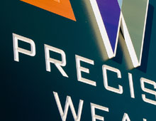 Precision Wealth Location Sign