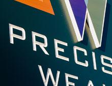 Precision Wealth Location Sign