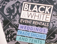 Black and White Event Rentals Van
