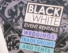 Black and White Event Rentals Van