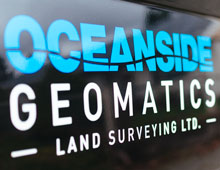 Oceanside Geomatics Vehicle Graphics