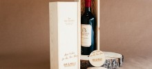 Personalized Wine Box and Coaster Set