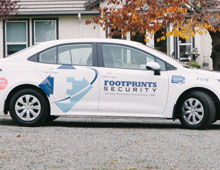 Footprints Security Car